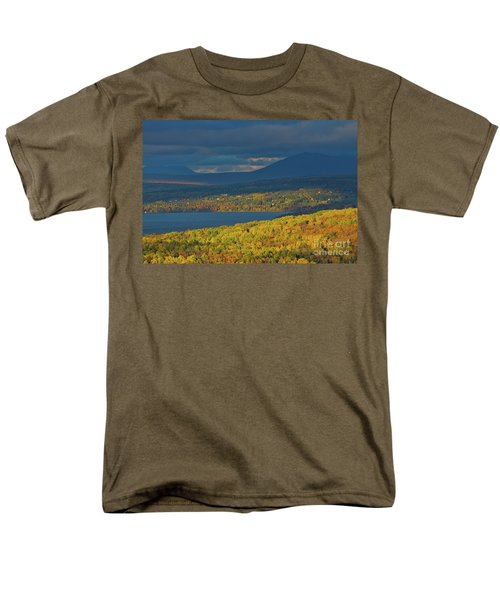 Red Farm House In Evening Light Men's T-Shirt  (Regular Fit) by Alana Ranney