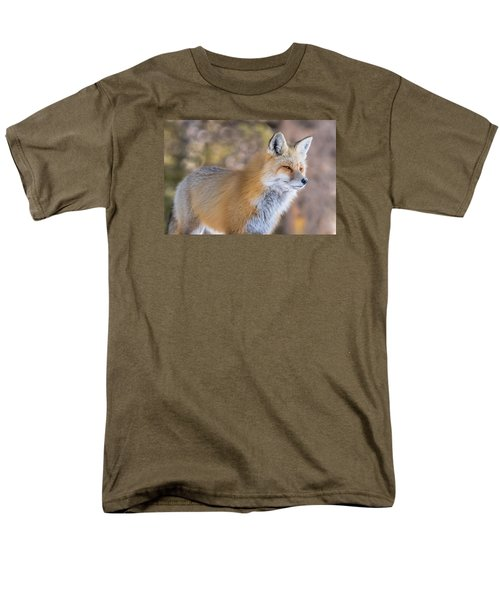 Men's T-Shirt  (Regular Fit) featuring the photograph Red Fox In Winter Glow by Yeates Photography