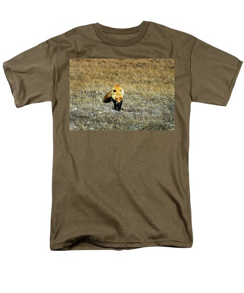 Men's T-Shirt  (Regular Fit) featuring the photograph Red Fox On The Tundra by Anthony Jones