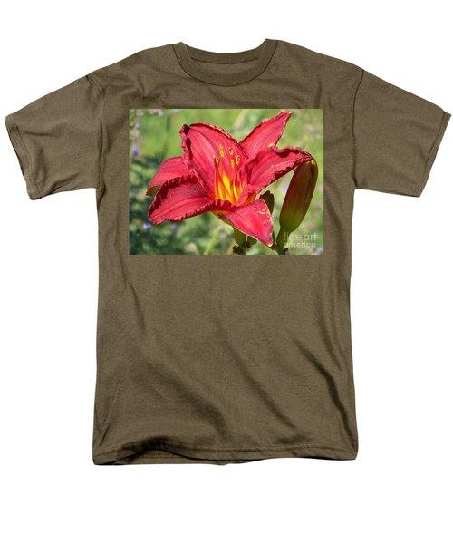 Men's T-Shirt  (Regular Fit) featuring the photograph Red Flower by Eunice Miller