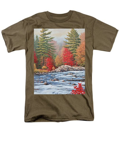 Red Maples, White Water Men's T-Shirt  (Regular Fit)