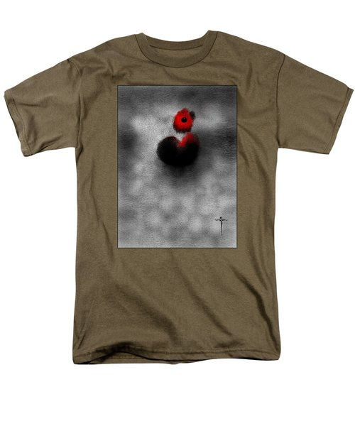 Men's T-Shirt  (Regular Fit) featuring the digital art Red Mouse by James Lanigan Thompson MFA