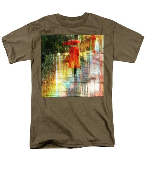 Red Rain Day Men's T-Shirt  (Regular Fit) by LemonArt Photography