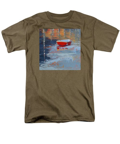 Red Reflections Men's T-Shirt  (Regular Fit) by Trina Teele