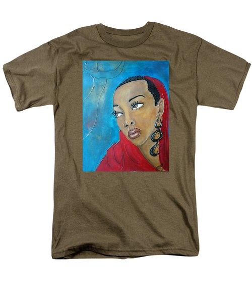 Red Scarf Men's T-Shirt  (Regular Fit) by Jenny Pickens