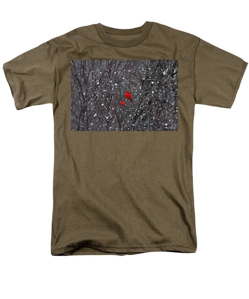 Red Snow Men's T-Shirt  (Regular Fit) by Bill Stephens