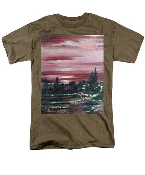 Red Sun Set  Men's T-Shirt  (Regular Fit) by Laila Awad Jamaleldin