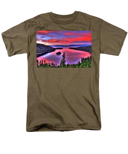 Red Tahoe Men's T-Shirt  (Regular Fit) by Scott Mahon