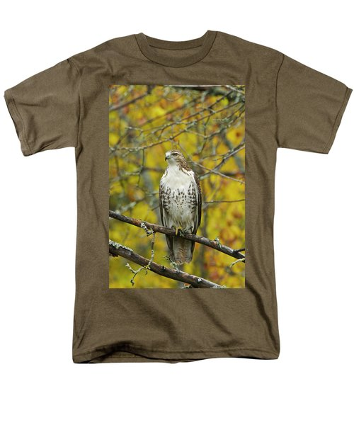 Red Tail Hawk 9888 Men's T-Shirt  (Regular Fit) by Michael Peychich