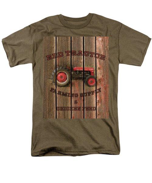 Red Tractor Farming Supply Men's T-Shirt  (Regular Fit)