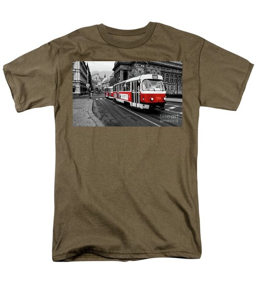 Red Tram Men's T-Shirt  (Regular Fit) by M G Whittingham