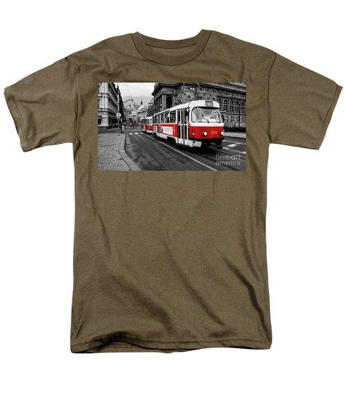 Red Tram Men's T-Shirt  (Regular Fit)