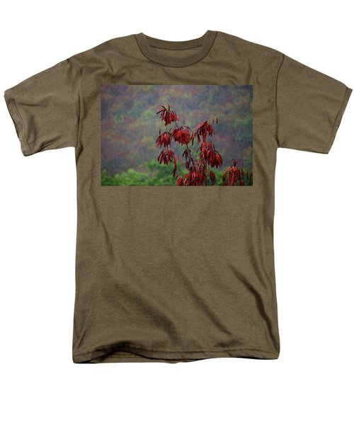 Red Tree In The Rain Men's T-Shirt  (Regular Fit) by Michael Thomas