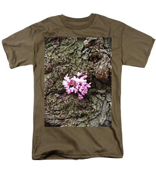 Redbud Flowers 1  Men's T-Shirt  (Regular Fit) by Sarah Loft