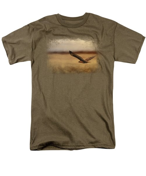 Redtail In The Field Men's T-Shirt  (Regular Fit)