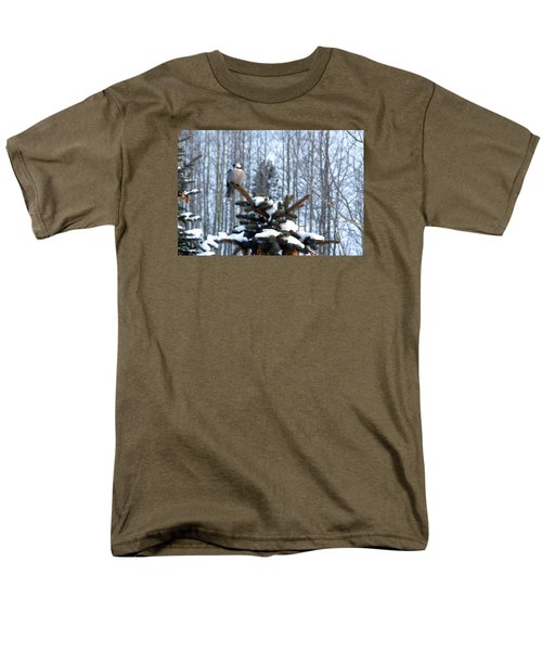 Refined Little Gray Jay In Colorado Men's T-Shirt  (Regular Fit) by Carol M Highsmith