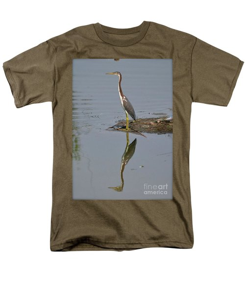 Men's T-Shirt  (Regular Fit) featuring the photograph Reflecting Heron by Carol  Bradley