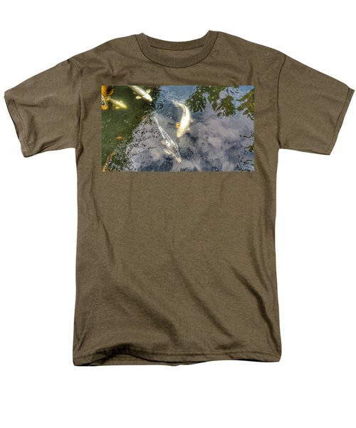 Reflections And Fish 9 Men's T-Shirt  (Regular Fit) by Isabella F Abbie Shores FRSA