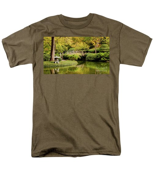 Men's T-Shirt  (Regular Fit) featuring the photograph Reflections In The Japanese Garden by Iris Greenwell