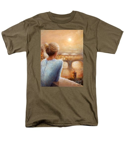 Men's T-Shirt  (Regular Fit) featuring the painting Reflections Of Florence by Michael Rock