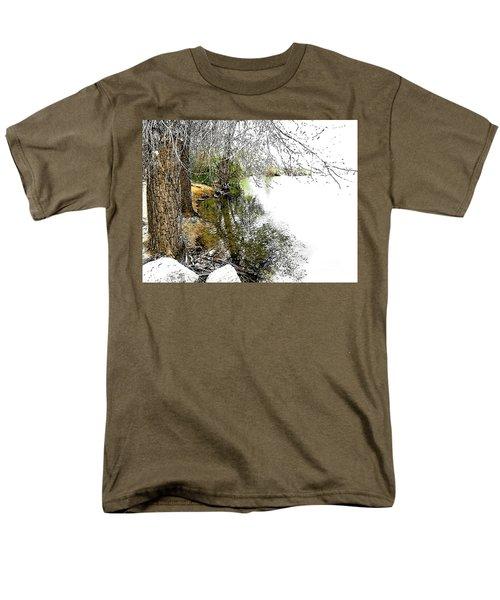 Reflective Trees Men's T-Shirt  (Regular Fit) by Deborah Nakano