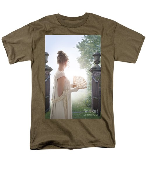 Regency Woman Looking Through A Gateway Men's T-Shirt  (Regular Fit) by Lee Avison