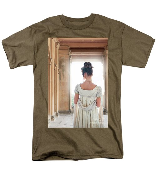 Regency Woman Under A Colonnade Men's T-Shirt  (Regular Fit) by Lee Avison