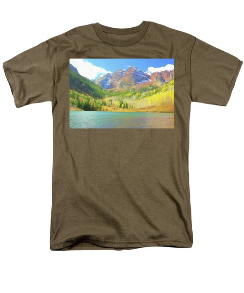 Men's T-Shirt  (Regular Fit) featuring the photograph The Maroon Bells Reimagined 1 by Eric Glaser