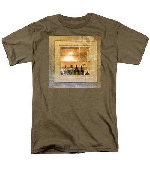 Men's T-Shirt  (Regular Fit) featuring the photograph Restaurant Window by Tom Singleton