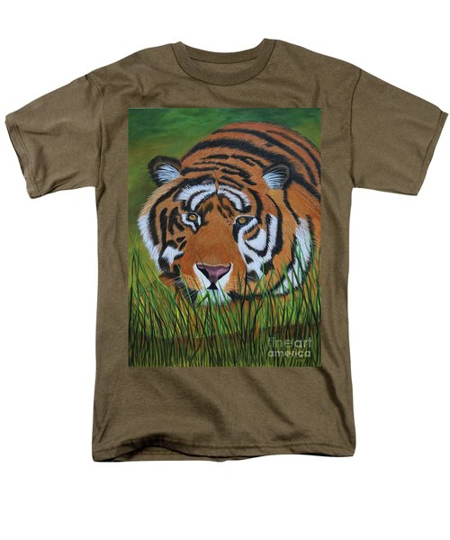 Men's T-Shirt  (Regular Fit) featuring the painting Resting Tiger  by Myrna Walsh