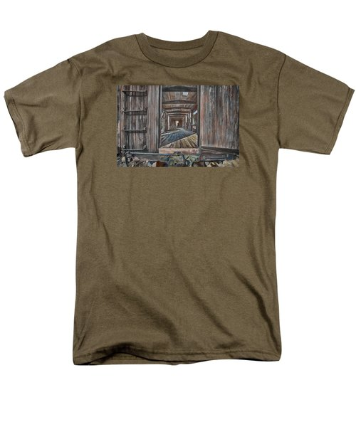 Retired Train Car Jamestown Men's T-Shirt  (Regular Fit) by Steve Siri