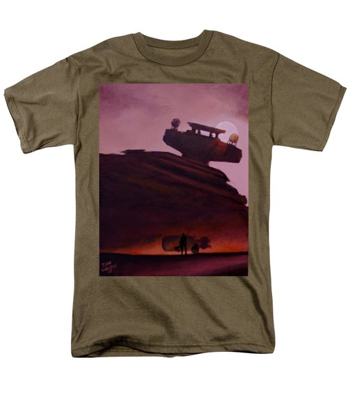 Men's T-Shirt  (Regular Fit) featuring the painting Rey Looks On by Dan Wagner