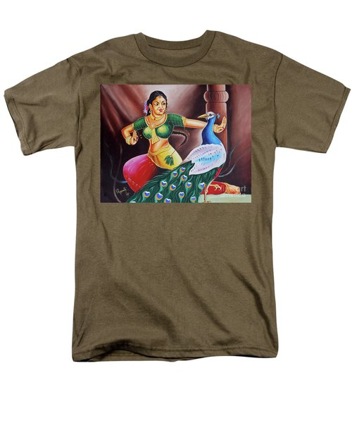 Men's T-Shirt  (Regular Fit) featuring the painting Rhythms Of Tradition by Ragunath Venkatraman
