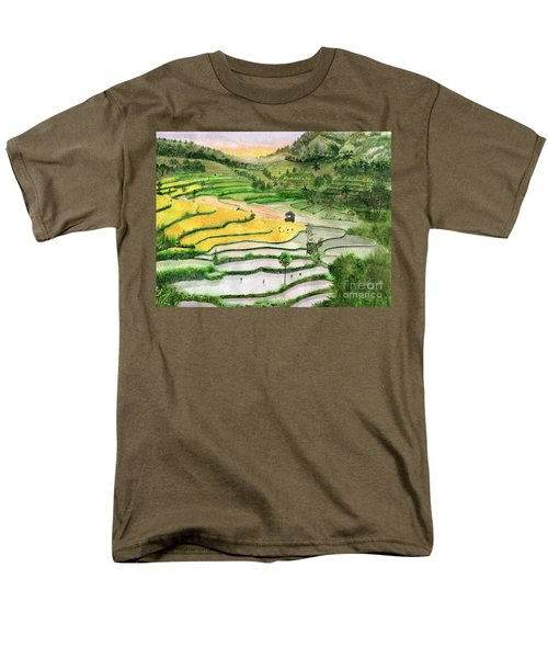Ricefield Terrace II Men's T-Shirt  (Regular Fit) by Melly Terpening