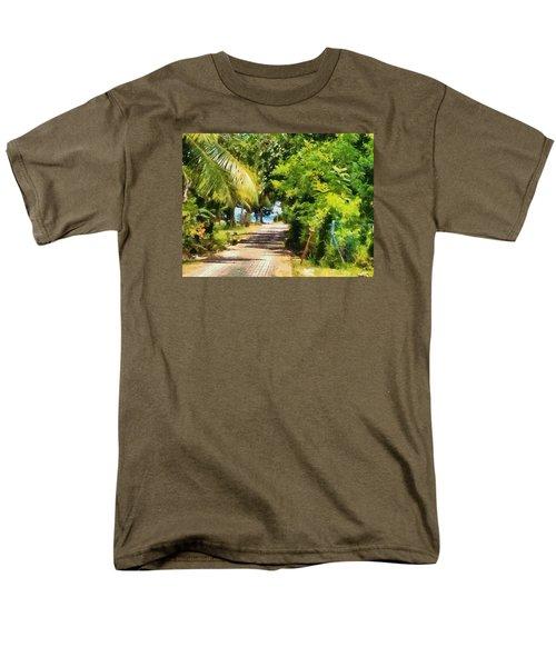 Rich Green Path Men's T-Shirt  (Regular Fit)