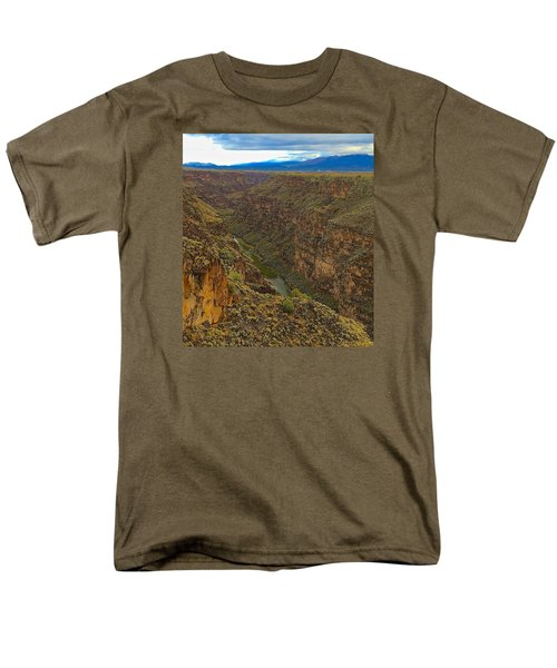 Men's T-Shirt  (Regular Fit) featuring the photograph Rio Grande Gorge Just After Dawn by Brenda Pressnall