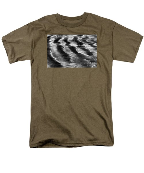 Men's T-Shirt  (Regular Fit) featuring the photograph Ripples In The Sand by Gary Bridger