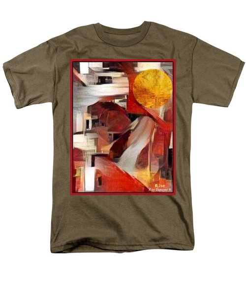 Men's T-Shirt  (Regular Fit) featuring the mixed media Rise by Ray Tapajna