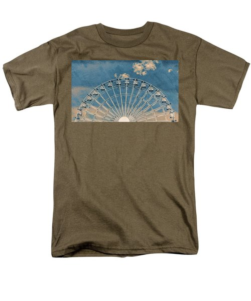 Rise Up Ferris Wheel In The Clouds Men's T-Shirt  (Regular Fit) by Terry DeLuco