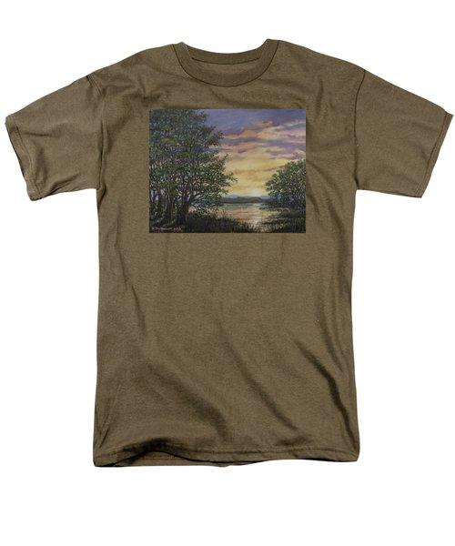 Men's T-Shirt  (Regular Fit) featuring the painting River Cove Sundown by Kathleen McDermott