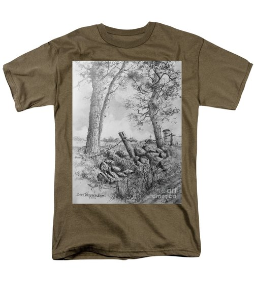 Men's T-Shirt  (Regular Fit) featuring the drawing Road Home by Jim Hubbard