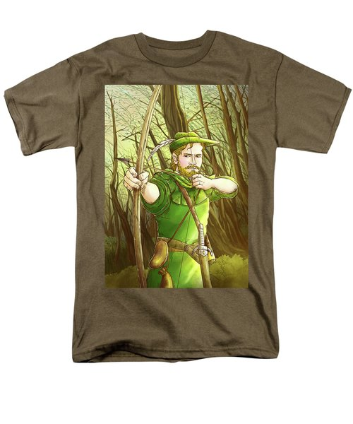 Robin  Hood In Sherwood Forest Men's T-Shirt  (Regular Fit) by Reynold Jay