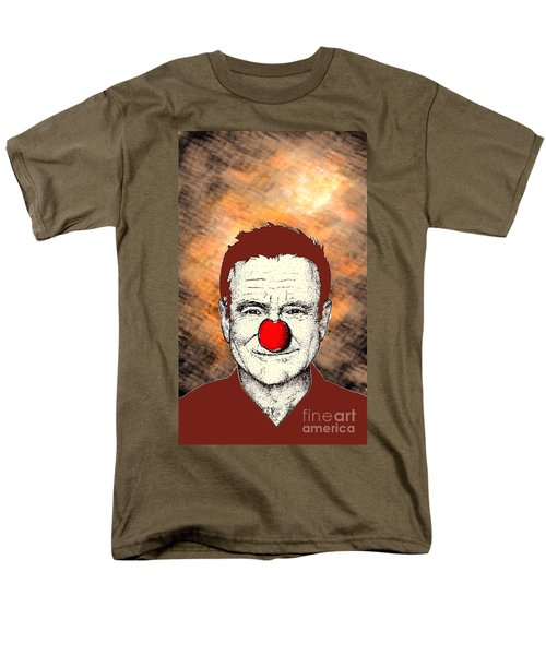 Men's T-Shirt  (Regular Fit) featuring the drawing Robin Williams 2 by Jason Tricktop Matthews