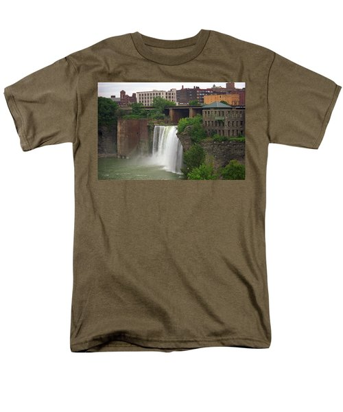 Men's T-Shirt  (Regular Fit) featuring the photograph Rochester, New York - High Falls 2 by Frank Romeo