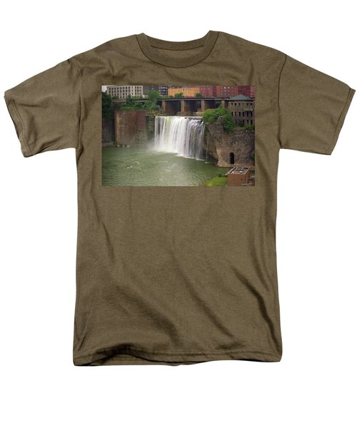 Men's T-Shirt  (Regular Fit) featuring the photograph Rochester, New York - High Falls by Frank Romeo