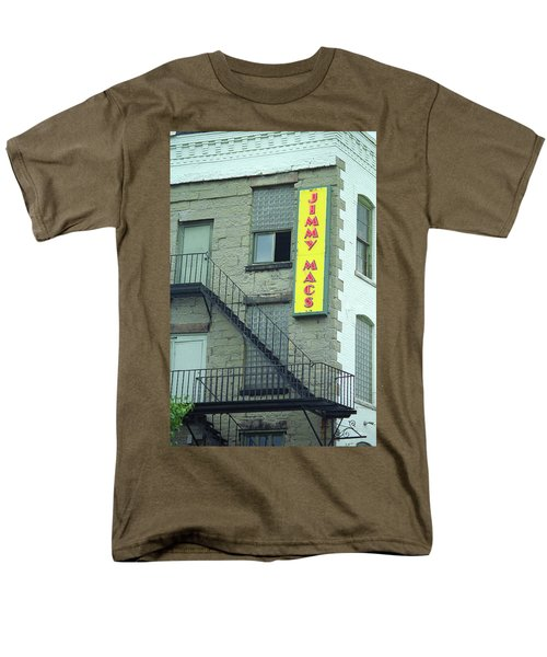 Men's T-Shirt  (Regular Fit) featuring the photograph Rochester, New York - Jimmy Mac's Bar 2 by Frank Romeo