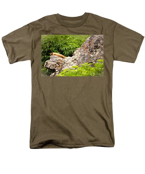 Rock Chuck Men's T-Shirt  (Regular Fit) by Lana Trussell