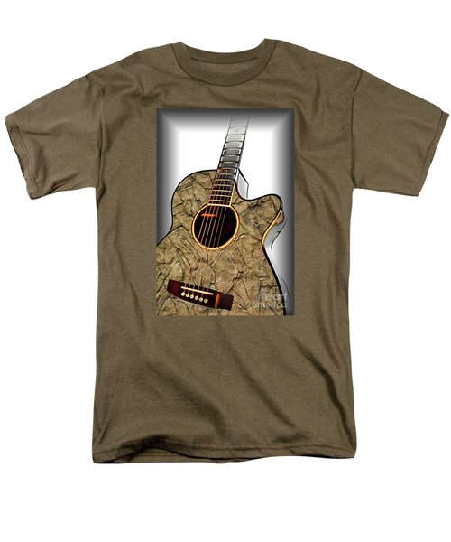 Rock Guitar 1 Men's T-Shirt  (Regular Fit) by Walt Foegelle
