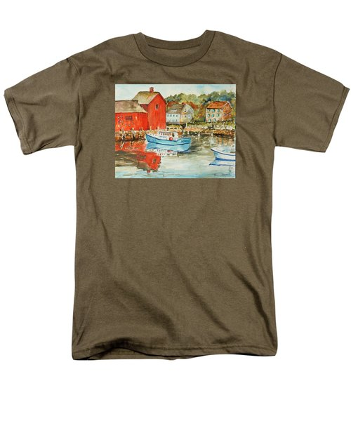Men's T-Shirt  (Regular Fit) featuring the painting Rockport by P Maure Bausch