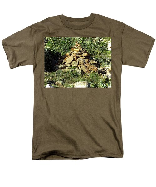 Rocky Mountain Cairn Men's T-Shirt  (Regular Fit) by Joseph Hendrix